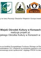 """Miejski Ośrodek Kultury w Korszach realizuje projekt pt. """"Doposażenie Miejskiego Ośrodka Kultury w Korszach w sprzęt sceniczny""""."""