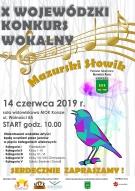 """X Wojewódzki Konkurs Wokalny """"Mazurski Słowik"""" Korsze 2019"""