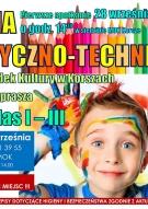 Trwa nabór Dzieci klas I-III na ZAJĘCIA PLASTYCZNO-TECHNICZNE